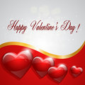 Happy valentines day card with hearts vector illustration Royalty Free Stock Image