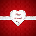 Happy valentines day card paper with heart sign vector illustration Stock Photos