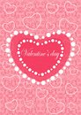 Happy valentines day cards with ornaments, hearts