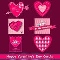Happy valentines day cards set.