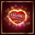 Happy Valentines Day. Creative graphic message for You design.Vector blurred background.