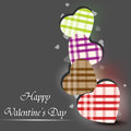 Happy Valentines Day greeting card, Royalty Free Stock Photos