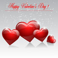Happy valentines day greeting card design Royalty Free Stock Images