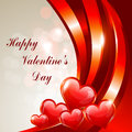 Happy valentines day greeting card design Royalty Free Stock Photography