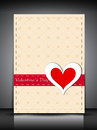 Happy Valentines Day greeting card, gift card or background. EPS Stock Photography