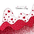 Happy Valentines Day greeting card. Holiday Decoration Elements. Romantic Weeding Design. Background with Ornaments and Hearts.