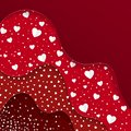Happy Valentines Day greeting card. Red Layers with different Decorative Elements. Romantic Weeding Design.