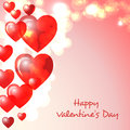 Happy valentines day greeting card sample Royalty Free Stock Image
