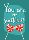 Happy valentines day greeting card vector illustration love romance sweet decorative banner.