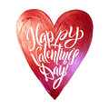 Happy Valentines Day Lettering. Pink Foil Heart Background Greeting Card Royalty Free Stock Photo