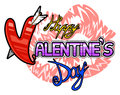 Happy Valentines Day logo Stock Photography