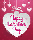 Happy valentines day message design fully editable Royalty Free Stock Image