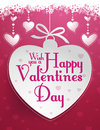 Happy valentines day message design fully editable Royalty Free Stock Photography