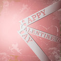 Happy Valentines Day paper strips Royalty Free Stock Image