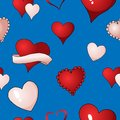 Valentines hearts vector seamless pattern background repetitive textile paint