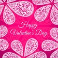 Happy valentines day vector doodle twirls background this is file of eps format Royalty Free Stock Photography