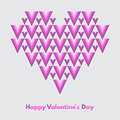 Happy valentines day vector greeting card abstract geometrical heart with lettering conceptual minimalist Royalty Free Stock Image