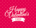 Happy valentines day vector illustration of a pink card Stock Images