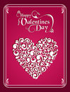 Happy Valentines day vintage heart background Stock Photo