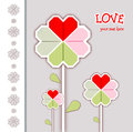Happy valentines day and weeding cards Stock Image