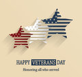 Happy veterans day poster honoring all who served vector illustration Stock Image