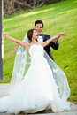 Happy wedding couple Royalty Free Stock Photography