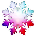 Happy winter snowflake Royalty Free Stock Image