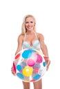 Happy Woman With Beach Ball, I...