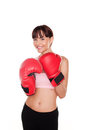 Happy Woman Boxer Royalty Free Stock Image