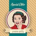 Happy Woman, Commercial Retro ...