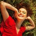 Happy Woman Enjoying Nature.