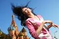 Happy woman in euphoria Royalty Free Stock Photo