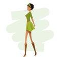 Happy woman fashion slim