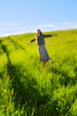 Happy woman in field Royalty Free Stock Images