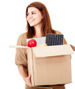 Happy woman moving Stock Photos