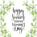 Happy Woman`s Day Hand Letteri...