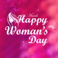 Happy woman s day illustration of concept Royalty Free Stock Photo