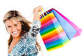 Happy woman shopping Stock Image