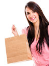Woman with a shopping bag Royalty Free Stock Photo