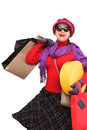 Happy woman shopping Royalty Free Stock Photo