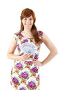 Happy woman showing euros currency notes on white background Stock Photography