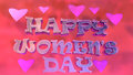Happy women s day typography logo design graphical representation of international with d Stock Photography