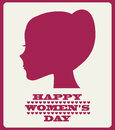 Happy womens day design vector illustration eps graphic Royalty Free Stock Image