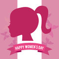 Happy womens day design vector illustration eps graphic Stock Image