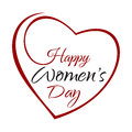 Happy Womens Day. Hand lettering on the background framework of hearts