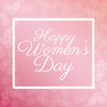 Happy womens day poster bubbles background
