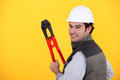 Happy workman Royalty Free Stock Photos