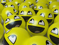 Happy yellow faces Stock Image