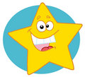 Happy yellow star Royalty Free Stock Photography