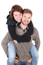 Happy young adult couple Stock Photo